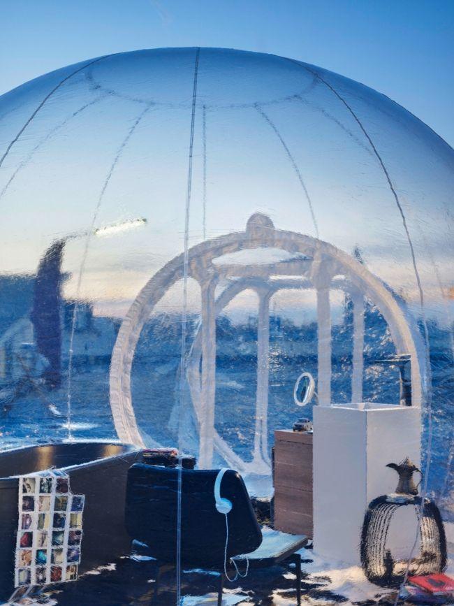 Das Aufblasbare Mobile Badezimmer Bubble Zeigt Die Zukünftigen Trends # Aufblasbare #badezimmer #bubble #