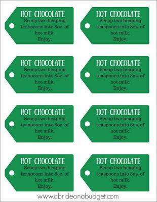 Mason jar hot chocolate mix favors plus free printable gift tags mason jar hot chocolate mix favors plus free printable gift tags negle Gallery