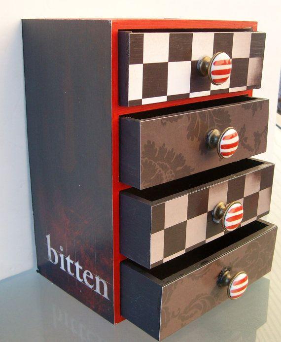 Twilight Jewelry Box by StrictlyCute on Etsy 4200 Earrings