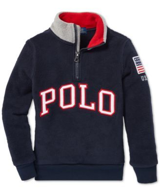 230b44b01be6 Polo Ralph Lauren Toddler Boys Fleece Mock Neck Pullover - Ralph Red ...