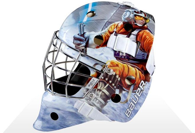 The Force Is Strong With These Awesome Star Wars Goalie Masks Goalie Mask Hockey Mask Hockey Goalie Gear