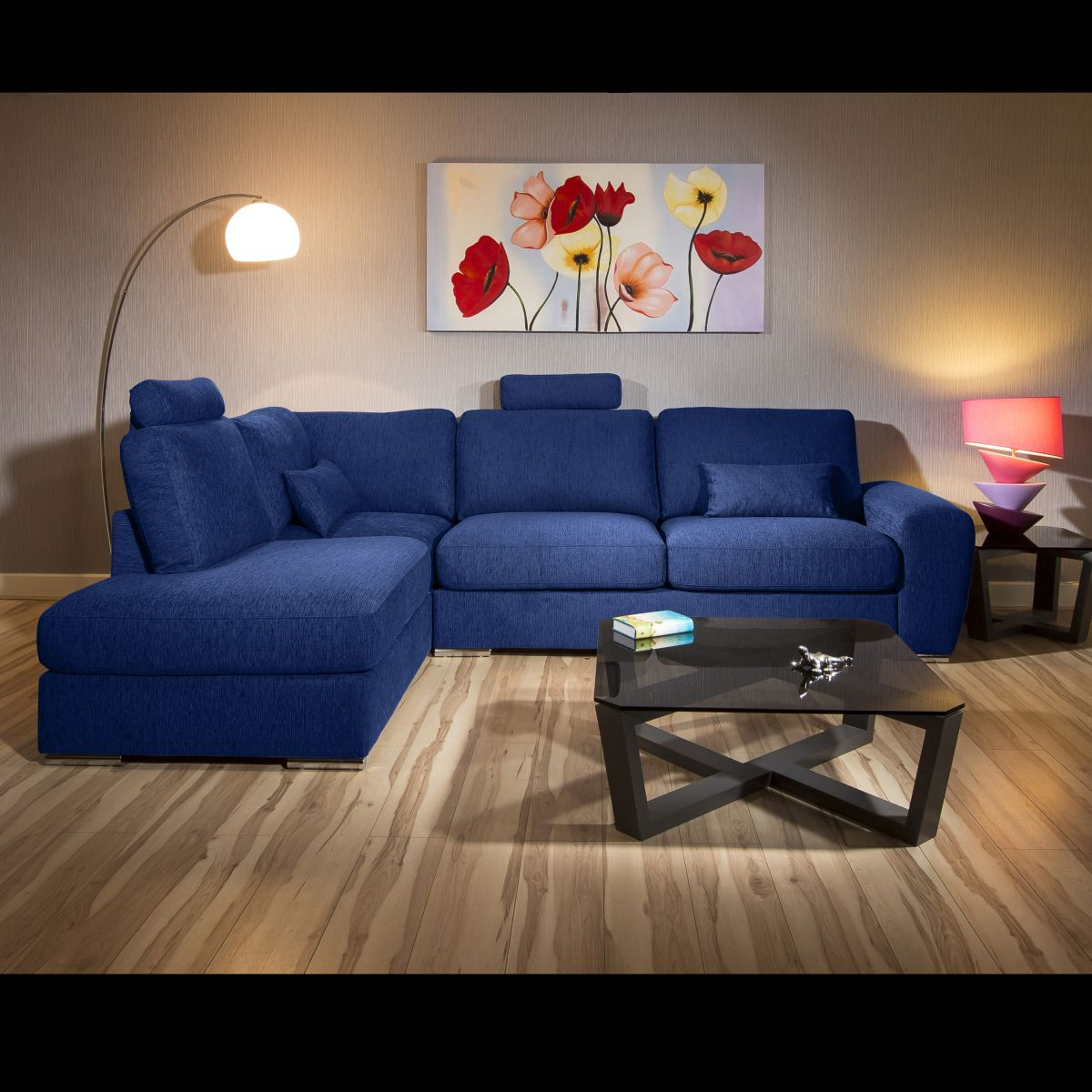 Beatuiful Premium Sofa Group L Shape Corner Many Fabrics Grande 2lh In 2020 Blue Corner Sofas Sofa L Shaped Sofa
