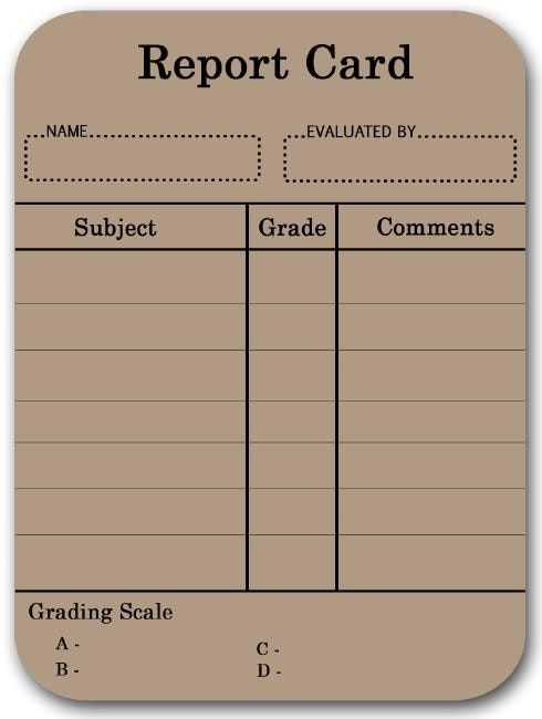Report card template entire Report Card Template Suitable Drawing - report card template