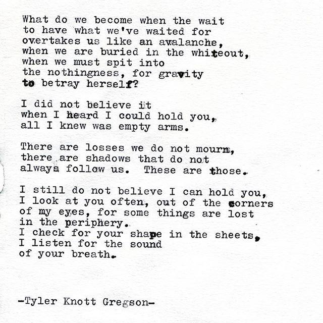 Typewriter Series #2142 by Tyler Knott Gregson | -TYLER KNOTT