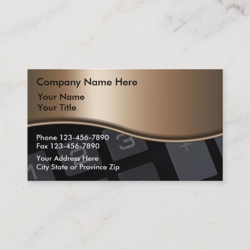 Accountant Business Cards Zazzle Com In 2021 Accounting Business Cards Business Card Minimalist