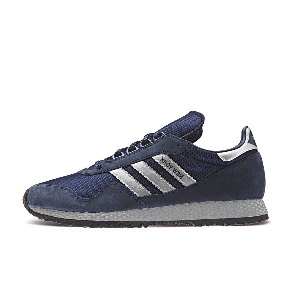 low priced 27567 b379a Adidas, New York Dark Blue Matte Silver Collegiate Navy Shoes