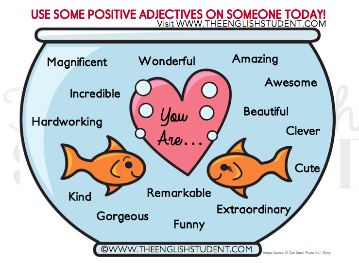Positive adjectives, ESL, vocabulary, teaching ideas See more ...