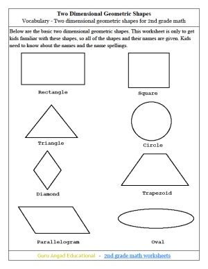 Geometry Shapes For 2nd Grade
