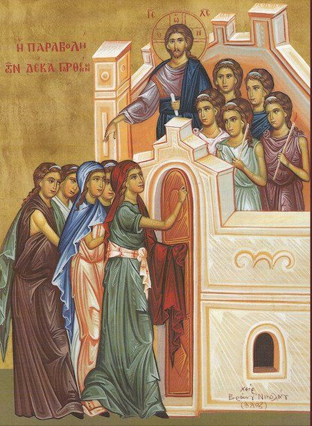 10 Virgins icon   Art history: Icons - Parables from the
