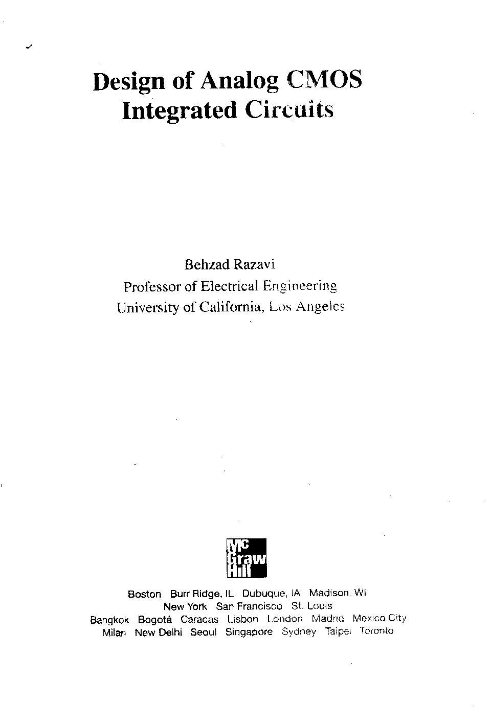 Design Of Analog Cmos Integrated Circuits Pdf Download Service Manual Repair Manual Pdf Download Circuit Pdf Download Repair Manuals