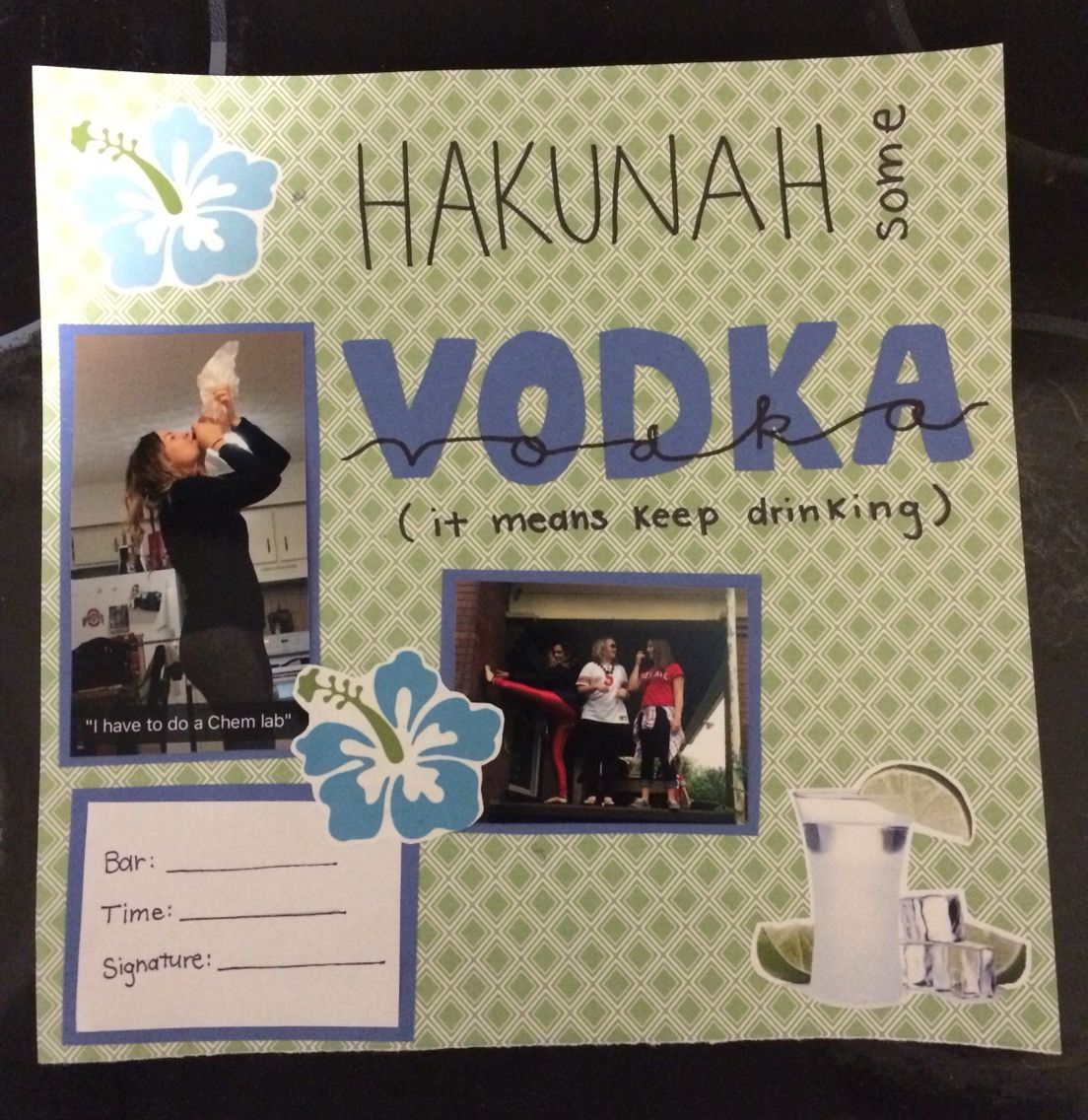 Scrapbook ideas writing - Shot Book Page More