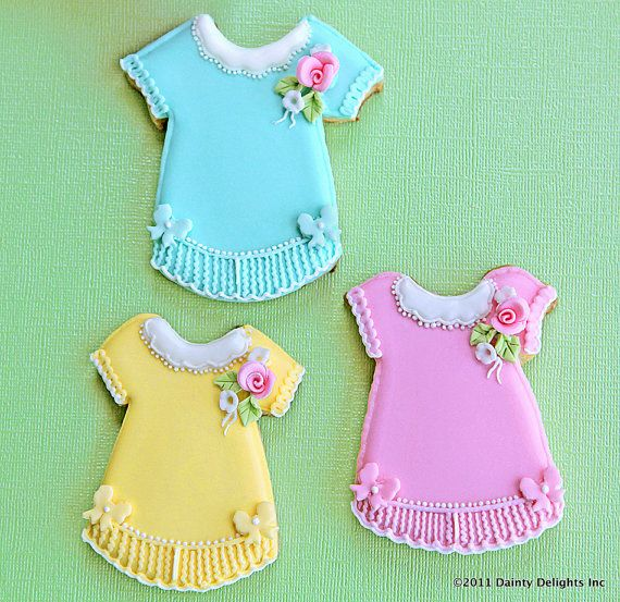 Baby Girl Dress and Shoe Cookies
