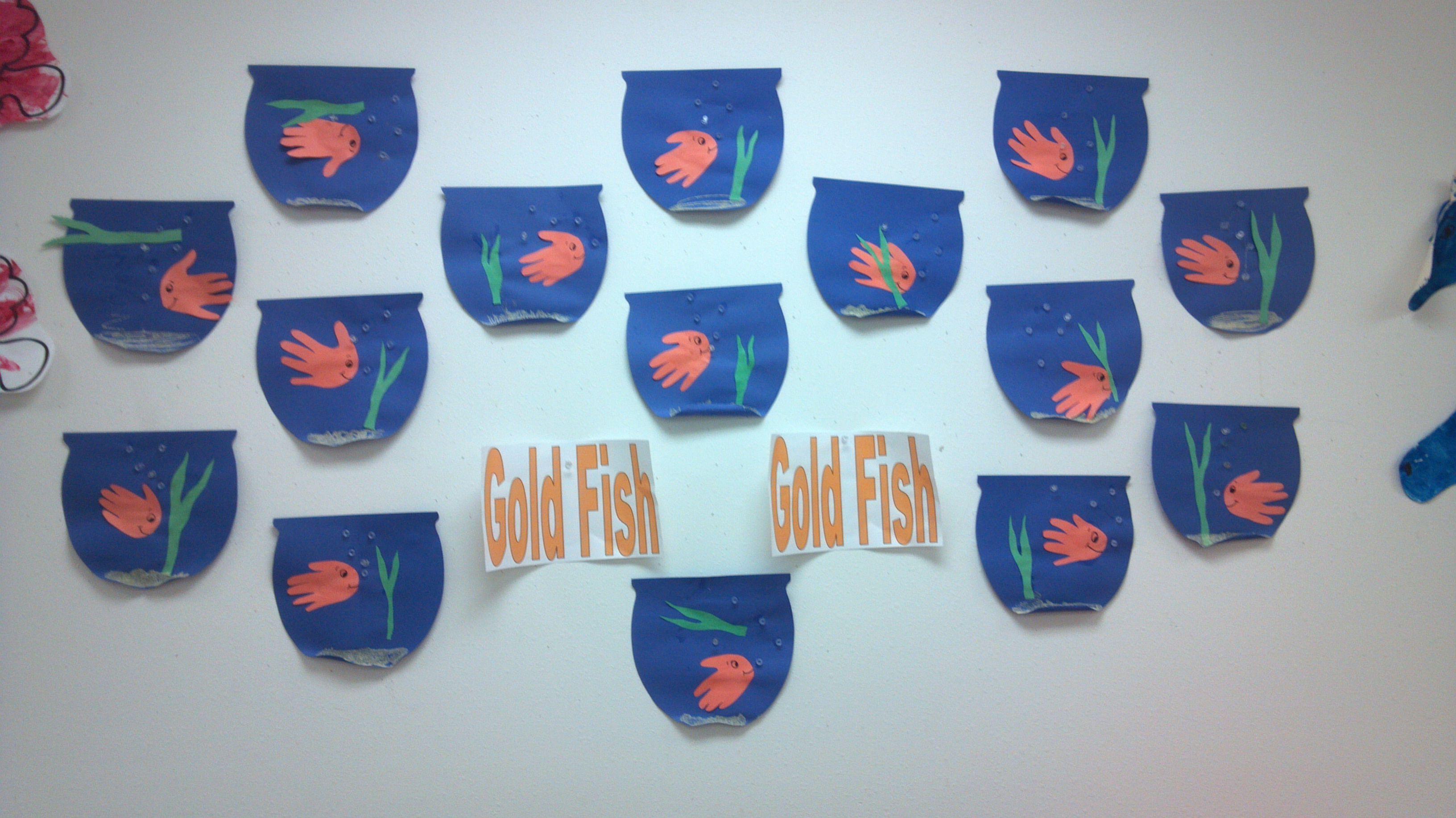 Goldfish Handprint Craft