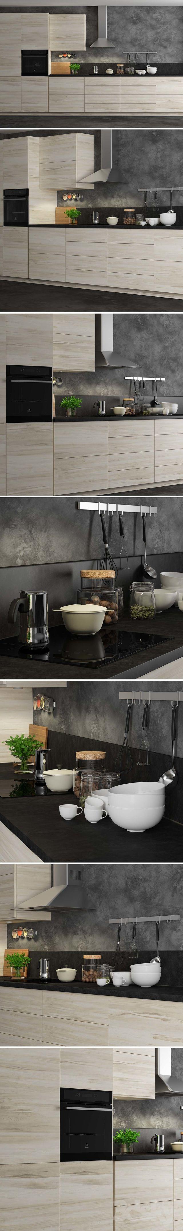 3d models: Kitchen - Kitchen Ikea Method Askersund. | Decoración en ...