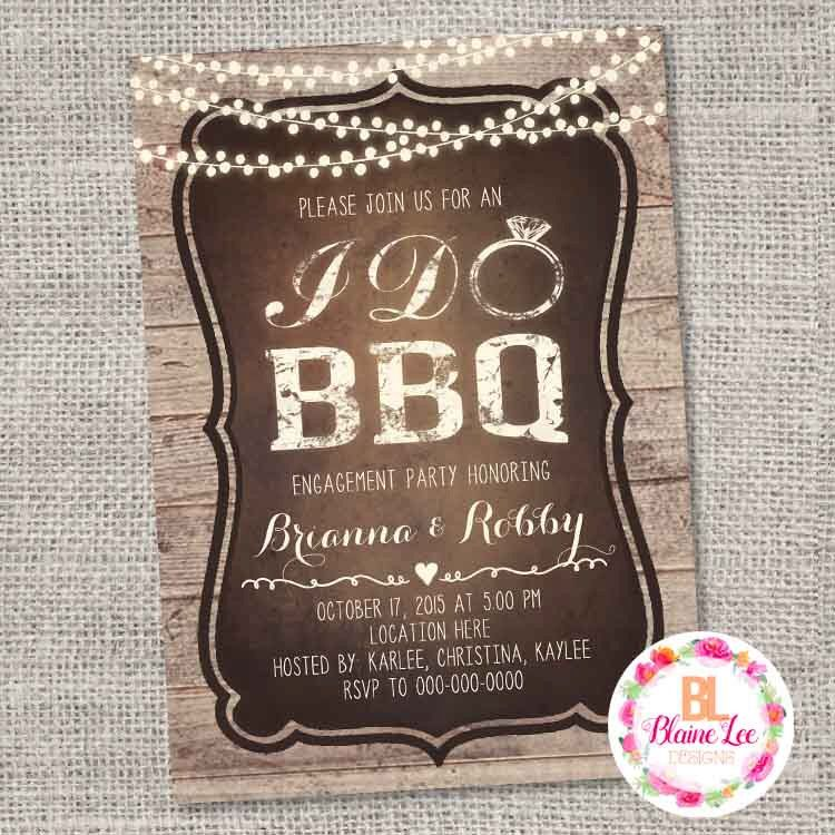 baby shower bbq invitation templates%0A Rustic I Do Bbq Engagement Bridal Shower Invitation  Digital File by  BlaineLeeCo on Etsy https