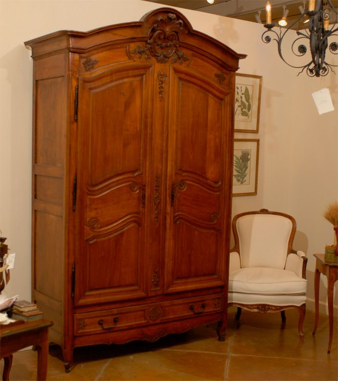 Gentil 19th Century French Cherry Wood Armoire With 4 Drawers | From A Unique  Collection Of Antique