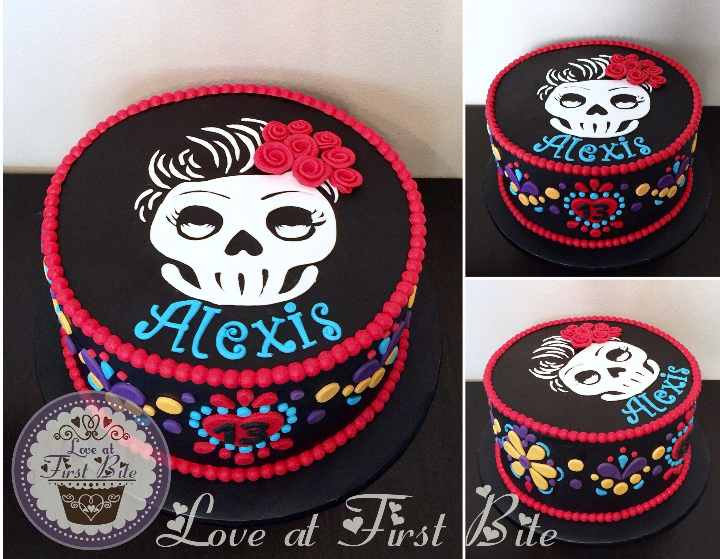 Dia De Los Muertos Cake Day Of The Dead Cake Childrens Birthday