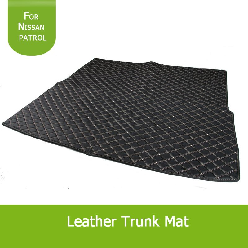 1pcs Xpe Waterproof Leather Trunk Mat With Red Golden Line For