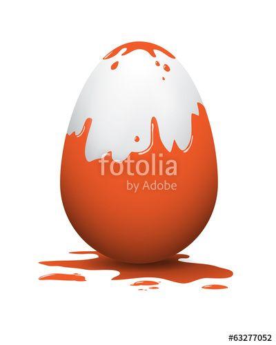 Vektor: easter egg orange