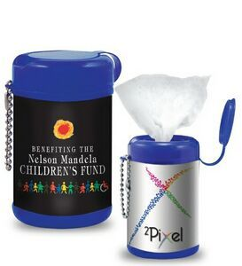 Tek Wipes Antibacterial Wetwipes Canister W Ball Chain