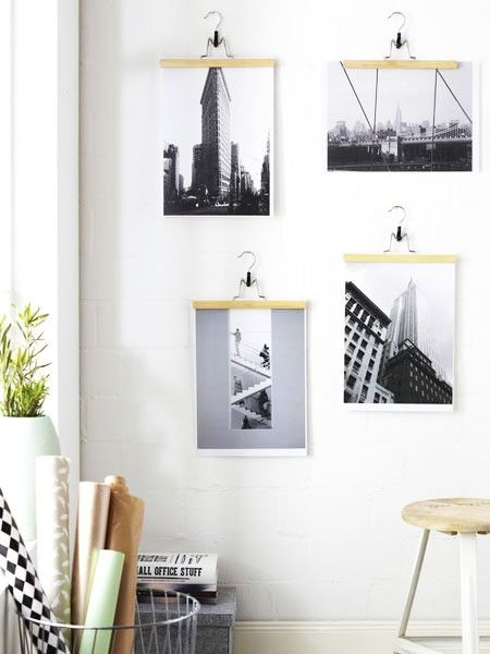 bilderrahmen selber machen 16 diy ideen pinterest wooden frames magnets and diy poster frame. Black Bedroom Furniture Sets. Home Design Ideas