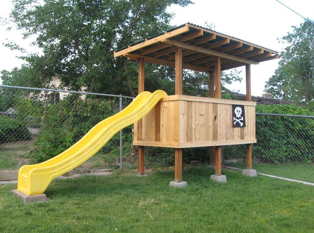 How to Build a Treeless Tree House   Backyard fort, Small ...
