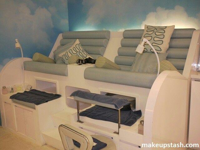 Pedicure Station Idea For Retractable Foot Rest Spa Rooms Hair Salon Decor Salon Decor