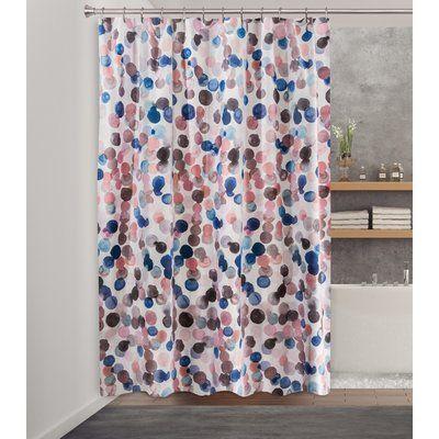 Brayden Studio Hurt Fabric Single Shower Curtain Fabric Shower