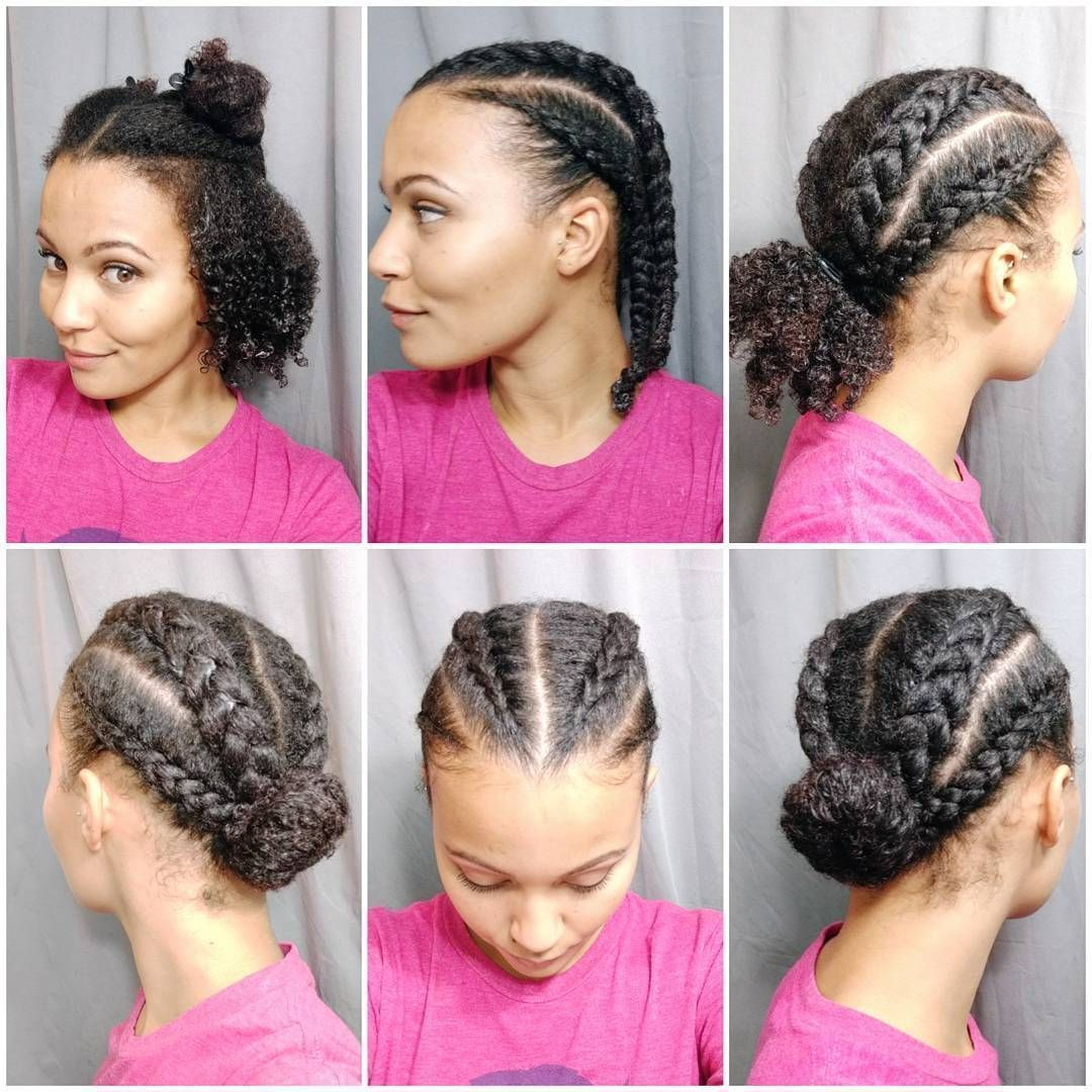 Quick protective style haircareafterworkout,