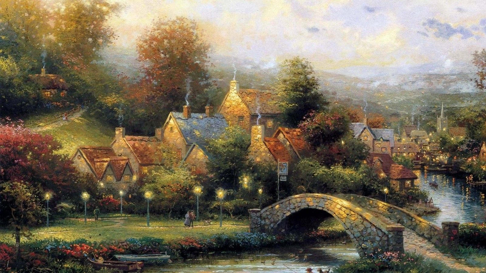 Pix For  Thomas Kinkade Spring Wallpaper  Thomas Kinkade -2258