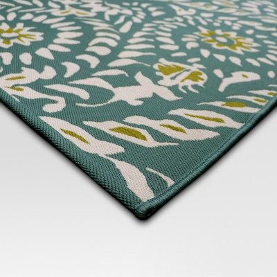 5 X 7 Paisley Outdoor Rug Turquoise