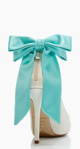 TIffany blue bow heels by kate spade new york. Something blue heels girls to…