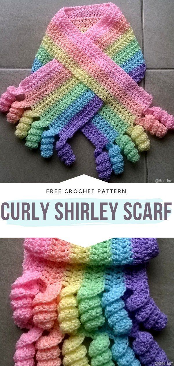 Unicorn Inspired Scarves Free Crochet Patterns