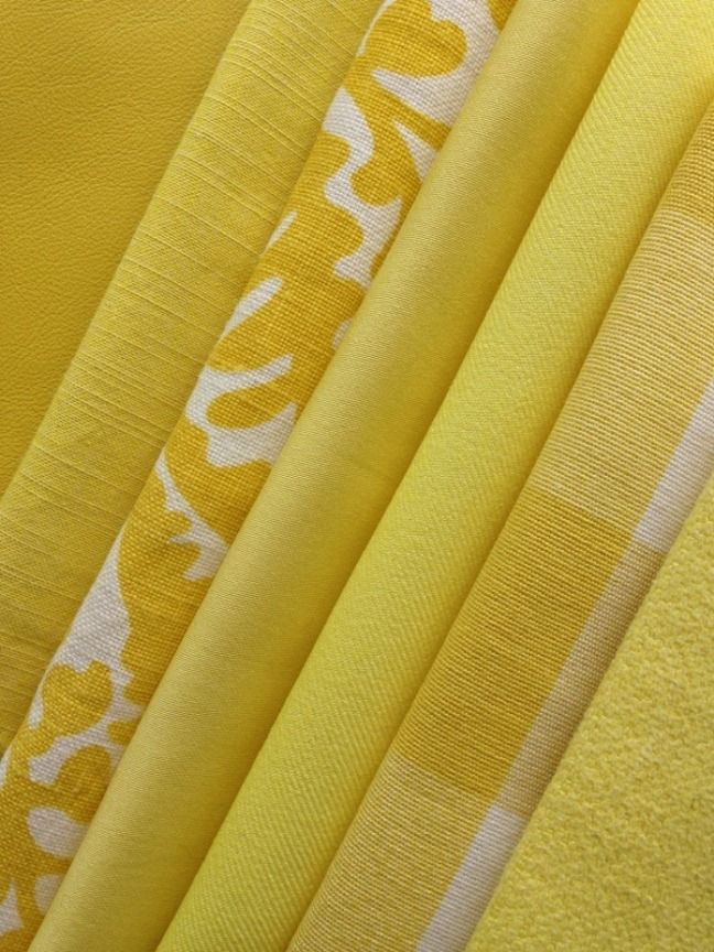 Daffodil Color Story From Top Left Dualoy Leather Milan Canary Villa Nova Bilbao Washable Citronella Raoul Textiles Chivasso Daffodil Color Raoul Textiles