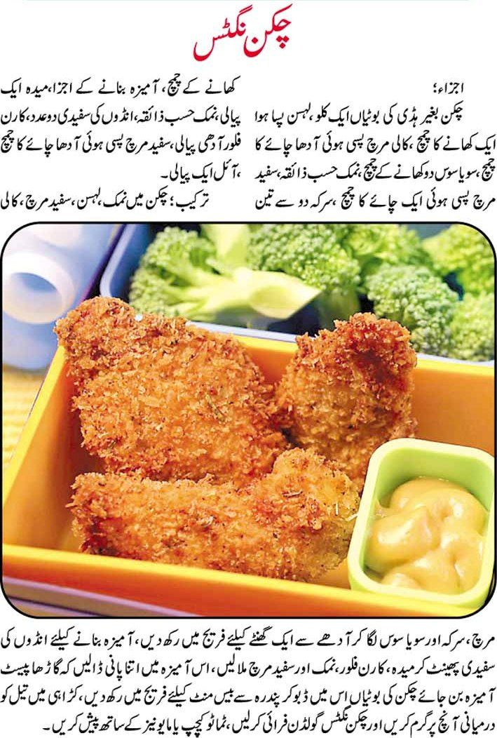 Chicken Nuggets Recipe In Urdu Women Fashion Pinterest Chicken