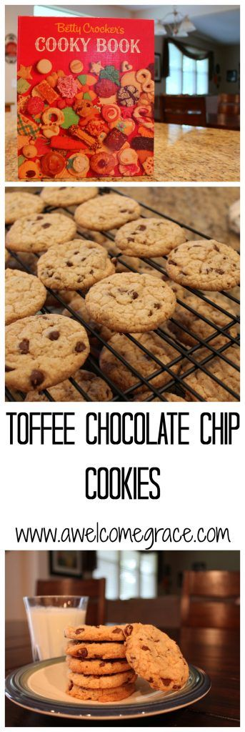 Toffee Chocolate Chip Cookies - A Welcome Grace
