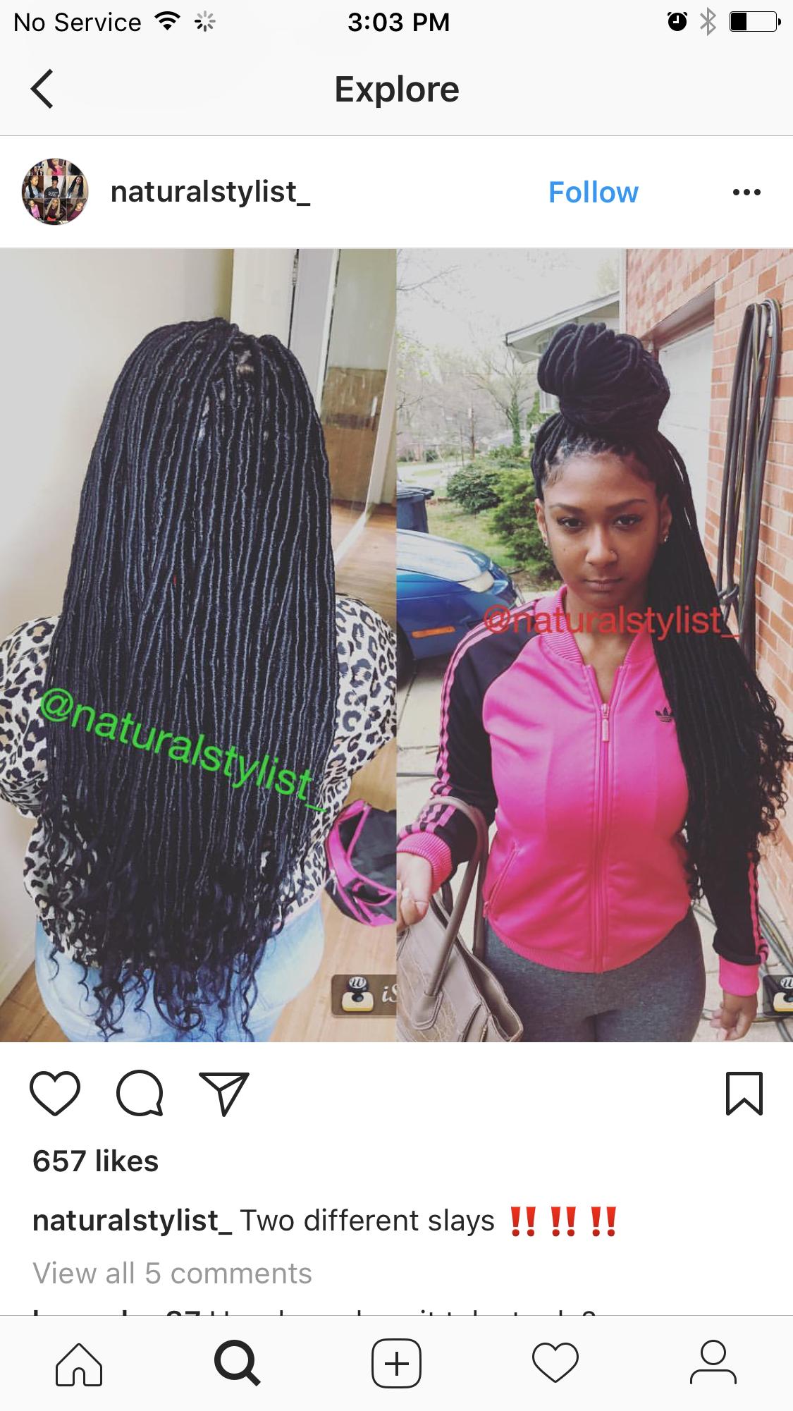 Pin by nicole glenn on individual braids pinterest locs faux