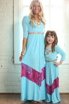 cc16707b68cb9 Mommy and Me maxi dresses | Mommy and Me Outfits | Mom, daughter ...