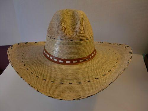 Tom Mix Gus Mata Vaca Palm Leaf Wide Brim Cowboy Western South West Hat One  Size  1d9f572affc