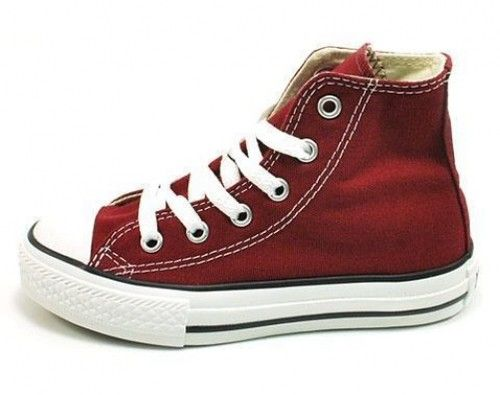 8661f338d1c8 Converse All Star Hi Top Youth Boys Size Chuck Taylor Maroon 307527F  Sneakers