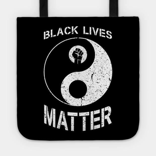 BLM Black Lives Matter Yin Yang Symbol Protest Fist