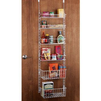 Better Homes And Gardens Used This For Over The Door Gift Wrap Storage:  Amazon.