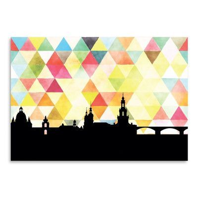 Americanflat PaperFinch Designs Dresden Triangle by Amy Braswell Graphic Art Size: