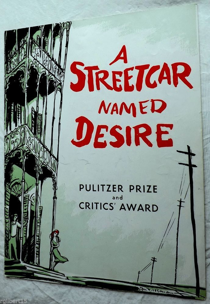 A Streetcar Named Desire Tandy Brando Hunter Malden Broadway Program Souvenir