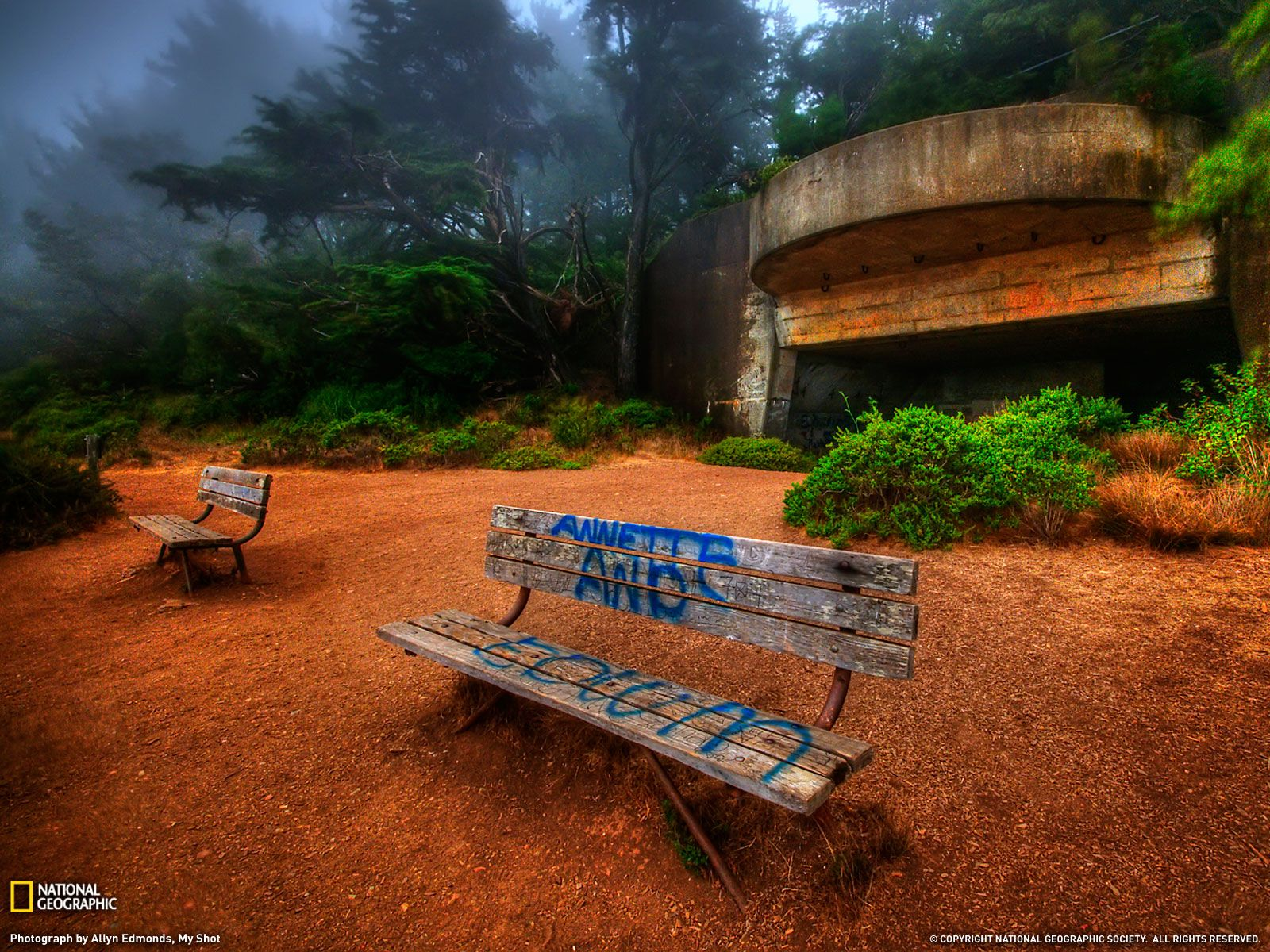 Marin Headlands Bunker WWII located near the
