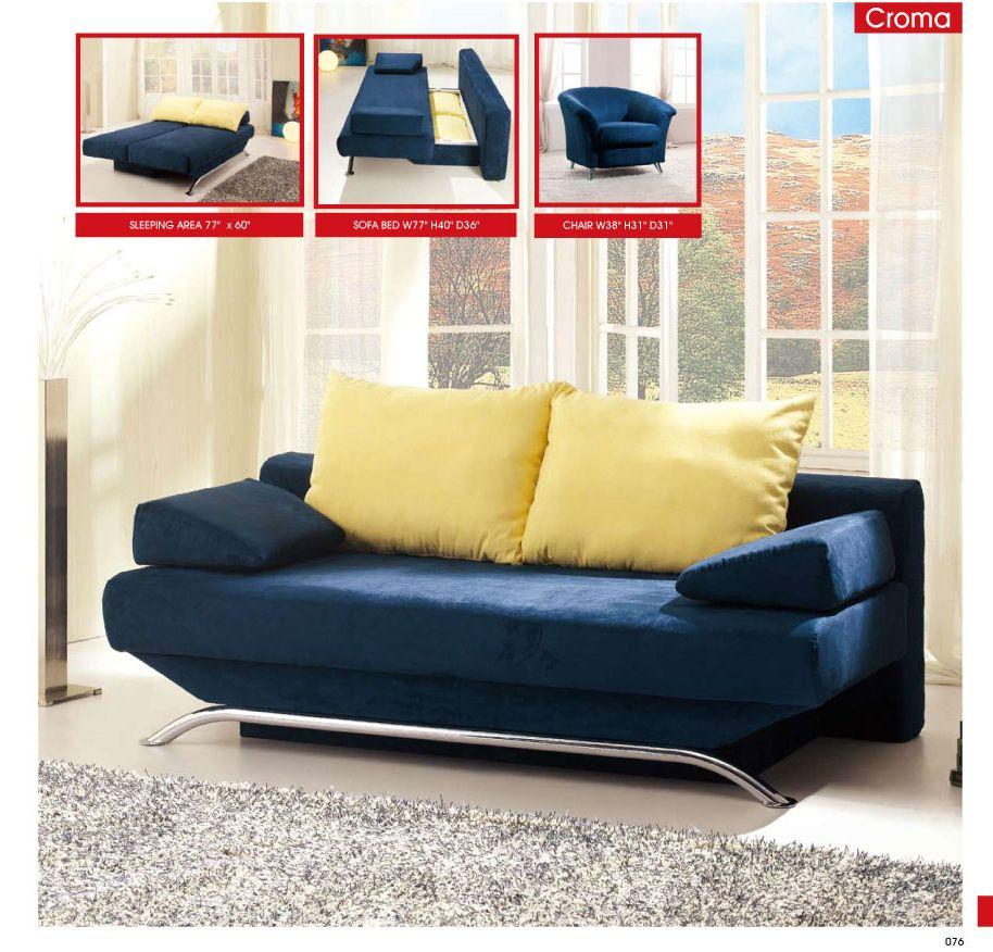 Living Room Furniture Sofa Beds Croma Blue | Sofa Beds | Pinterest ...