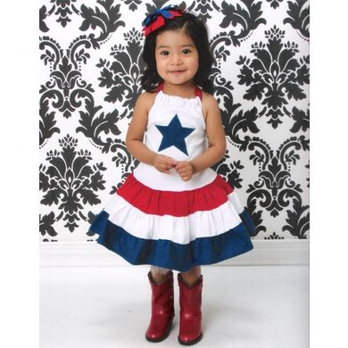 8039714e8a927 Custom Boutique 4th of July Dress from @Lil'BugClothing Price: $35.00 #4th  of #July #Dresses and Outfits for Little #Girls