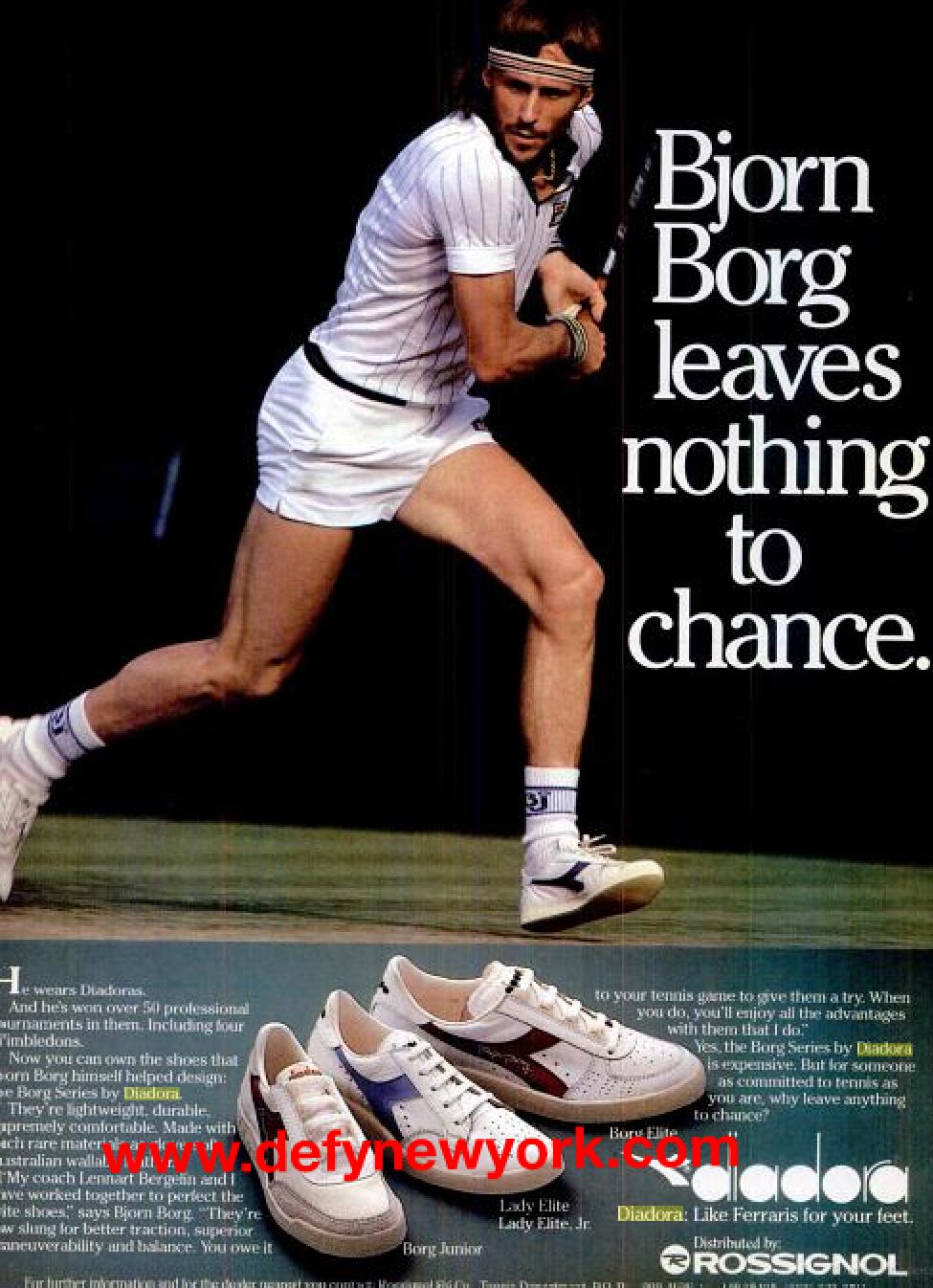 Diadora. | Tennis funny, Tennis, Bjorn borg