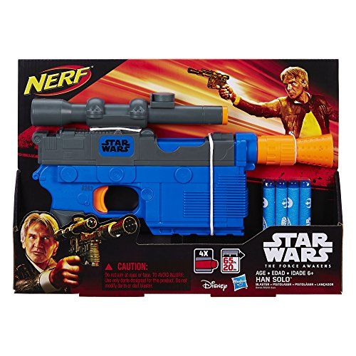Star Wars Episode VII Nerf Han Solo Blaster Take on enemy targets like Han  Solo with