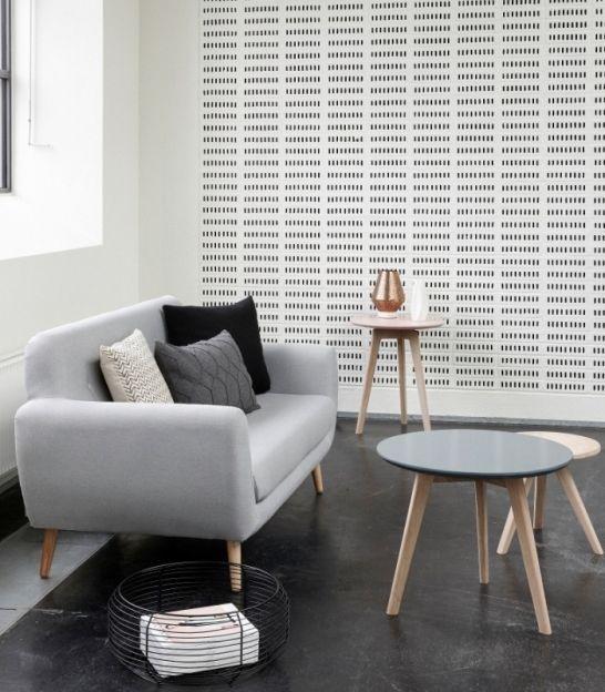 Canapé 50's 2 places gris clair - Hübsch